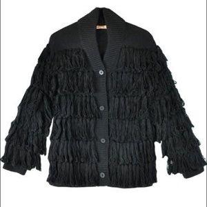 Shaggy Cardigan coat